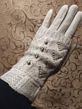 Вязание шерсти трикотаж женские перчатки  плоншете ANJELA только оптом, фото 3