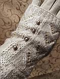 Вязание шерсти трикотаж женские перчатки  плоншете ANJELA только оптом, фото 4
