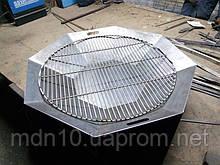 Решетка барбекю круглая усиленная, 800 мм