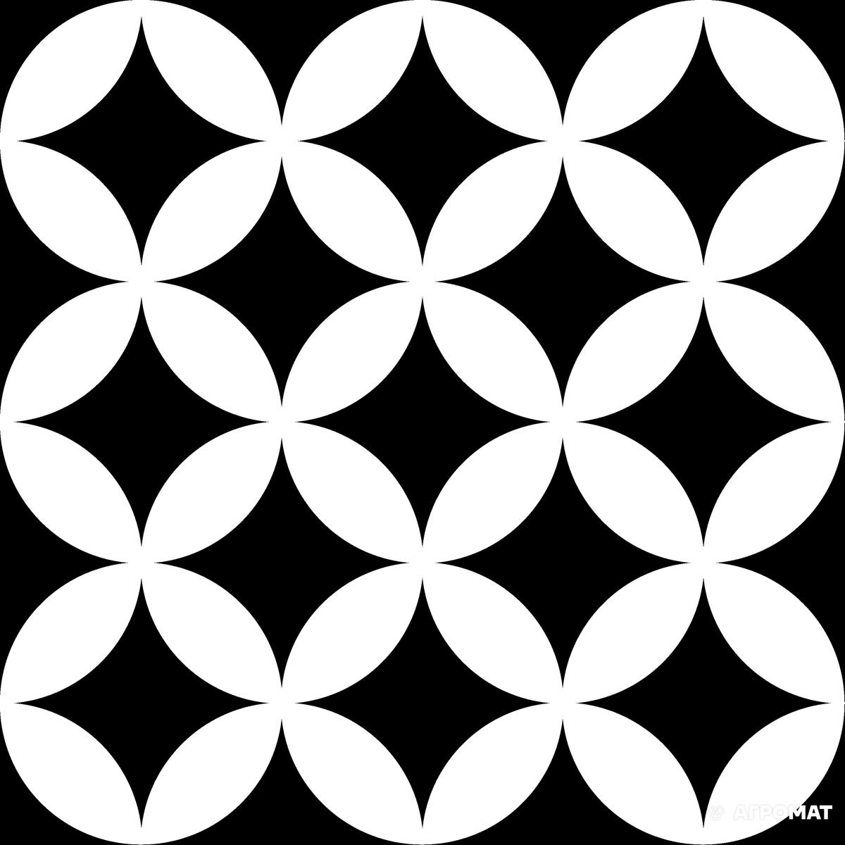 Напольная плитка Mayolica District CIRCLES BLACK арт.(374224)