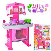 Интерактивная кухня Limo Toy со звуковыми эффектами и аксессуарами Розовая арт 661-51