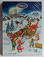 Новогодние детские шоколадные подарки картинки пазлы 75 гр Gunz Германия