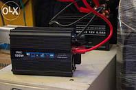 Преобразователь напряжения (инвертор) UKC 500W 12V-220V (black series)