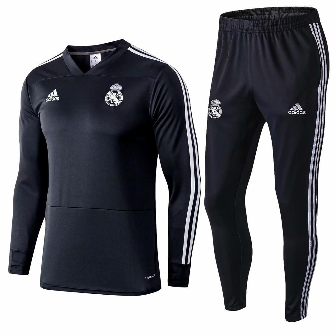 Тренировочный костюм Реал Мадрид черный сезон 18/19