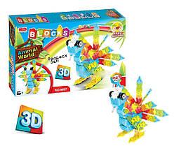 3D-конструктор Animal World - Попугай, 227 деталь Гарантия качества Быстрая доставка