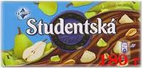 Шоколад молочный STUDENTSKA ORIGINAL MLECNAс арахисом , желе, груша180
