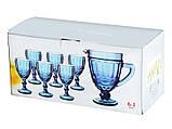 "Набор бокалов с графином синий 300 мл ""Винтаж"" ( бокалы для вина ), фото 3"