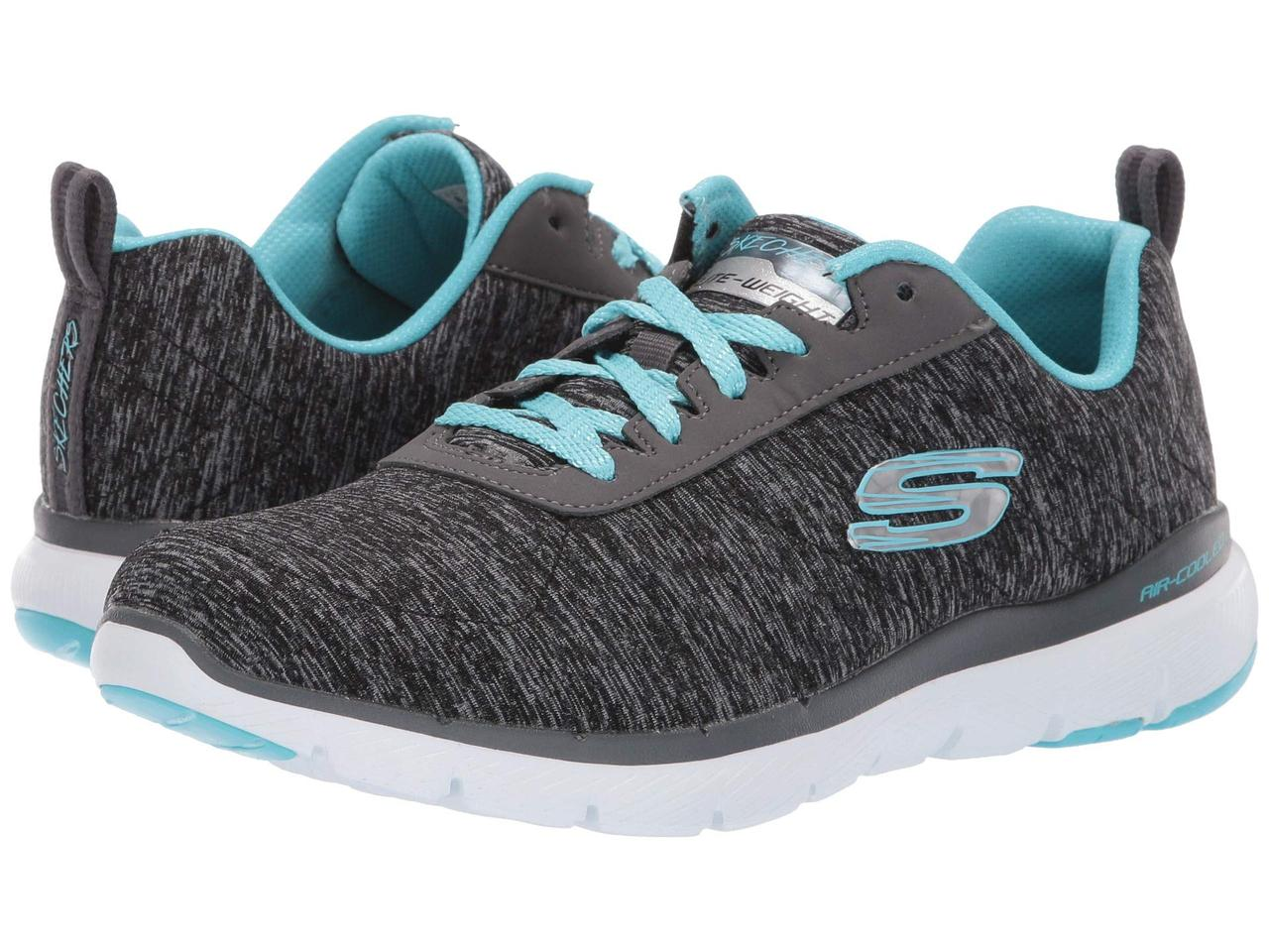 Кроссовки/Кеды (Оригинал) SKECHERS Flex Appeal 3.0 - Insiders Black/Light Blue