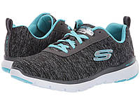 Кроссовки/Кеды (Оригинал) SKECHERS Flex Appeal 3.0 - Insiders Black/Light Blue, фото 1
