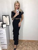 Платье Fashion с гипюровыми вставками