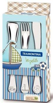 Столовые приборы детск. TRAMONTINA BABY Le Petit blue  (66973/000)