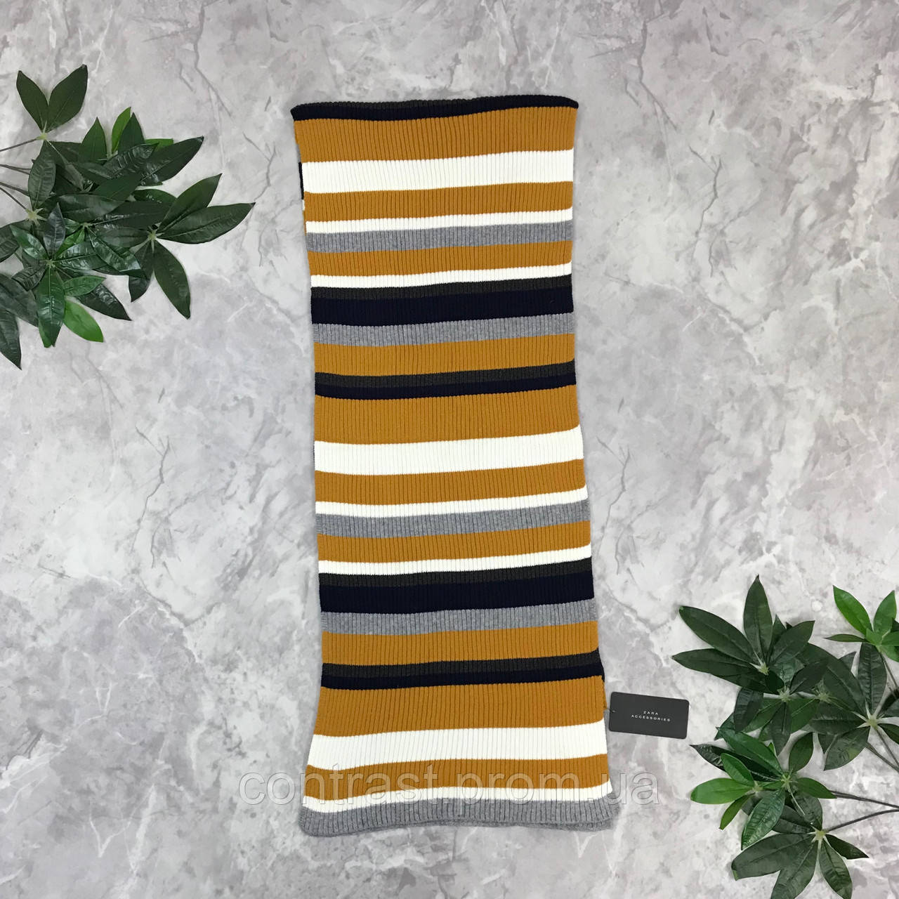 Комфортный шарф в полоску от Zara  AS1849187