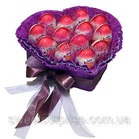 """Оригінальний подарунок """"Серце з кіндер-сюрпризів"""" (15)"""