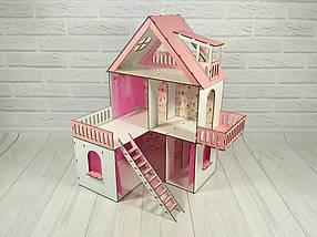 Домик для кукол 2101 Солнечная дача с обоями и шторками
