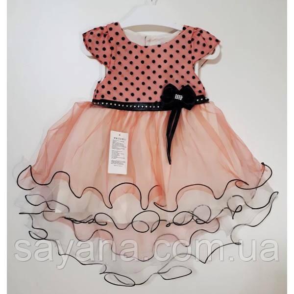 Детское нарядное платье- ассиметрия в расцветках, Турция. МО-1-1218