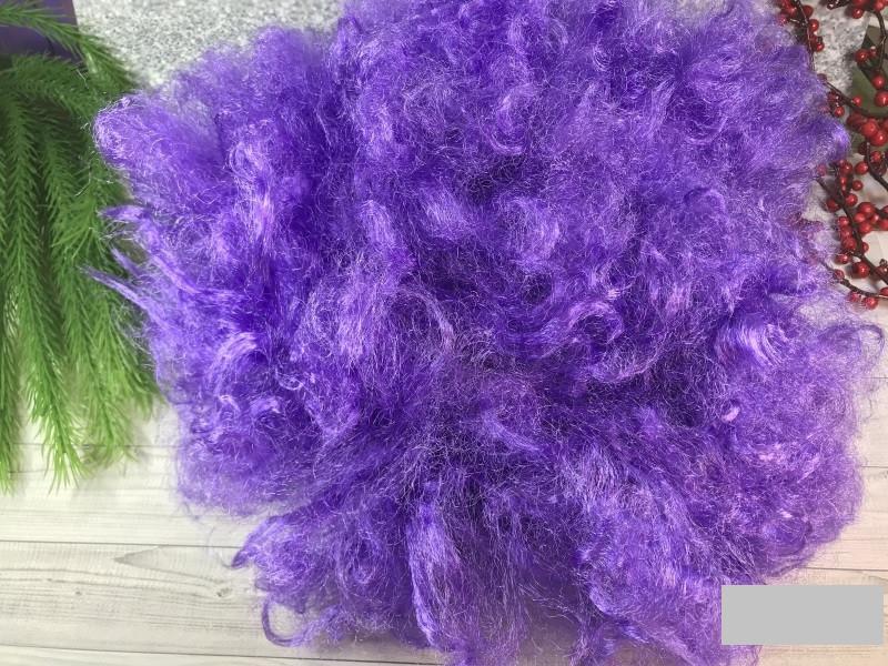 Карнавальный парик большой кудрявый фиолетовый
