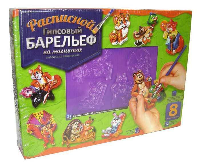 Набор для творчества Расписной гипсовый рельеф Danko Toys РГБ-06 Сказки