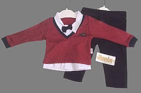 Нарядный костюм для мальчика с бабочкой Турция р. 6, 12, 18 мес. !!! МАЛОМЕРИТ