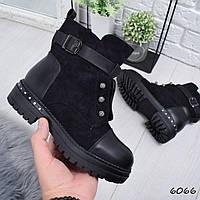 Ботинки женские Brondi черные зима , фото 1