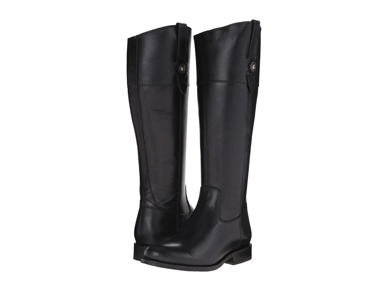 Ботинки Сапоги (Оригинал) Frye Jayden Button Tall Black Smooth Vintage  Leather - TopUSA 2e7000e7450