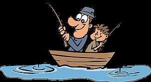 Сахарная картинка Рыбалка, рыбаку, с днём рыбака, для торта