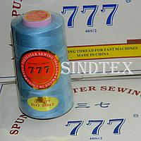 """114 Нитки """"777""""  швейные цветные 40/2 4000ярдов (от 6 бобин)"""