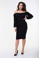 Платье срукавом буф, чёрное. Фото реальные!, фото 3
