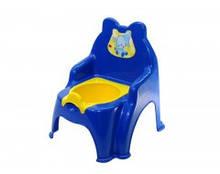 Горщик дитячий Слон синій, горшок детский Долони
