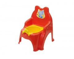 Горщик дитячий Слон червоний, горшок детский Долони