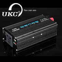 Преобразователь напряжения (инвертор) UKC 1000W 12V-220V (black series)