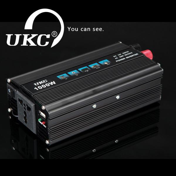 Преобразователь напряжения (инвертор) UKC 1000W 12V-220V (black series) - «Качество-Гарант» в Киеве