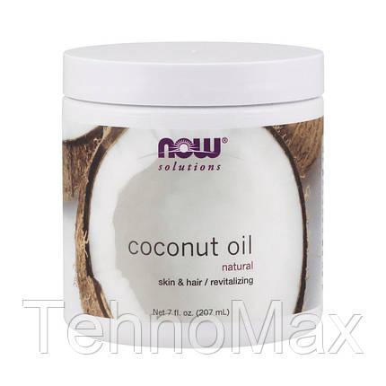 NOW кокосовое масло Coconut oil207 ml, фото 2