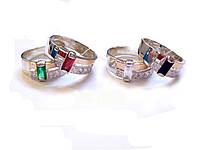 Серебряное кольцо с золотыми напайками 80у