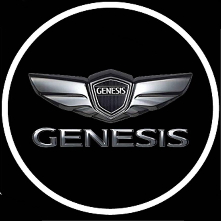 Подсветка логотипа авто на двери Genesis