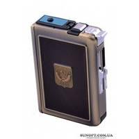 Портсигар с зажигалкой и выбросом сигарет №2719