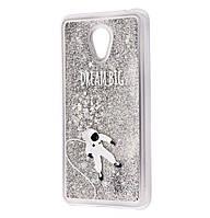 Чехол-накладка (Жидкий Блеск) Astronaut для Meizu M6s Silver