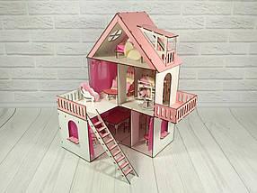 Кукольный домик с мебелью и кроватками