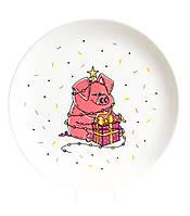 Тарелка «Новогодняя хрюша»