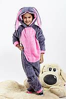 Детская цельная пижамы Кигуруми, турецкая пушистая махра высокого качества