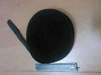Бейка прямая в два сложения черная швейная фурнитура Харьков лямовка