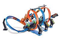 Автомобильный трек Mattel Hot Wheels Невероятные виражи Corkscrew Crash Track (FTB65)