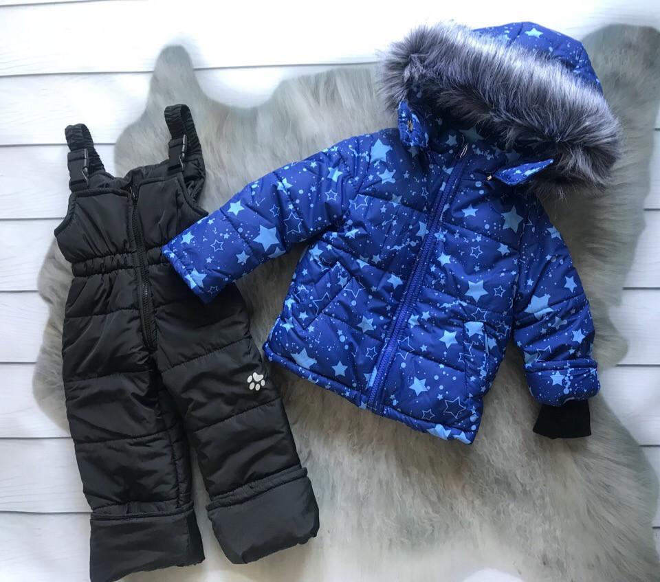 Зимний комбинезон/костюм голубые звезды