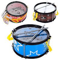 Барабан детский YX0086-2-3, 22см, палочка 2шт