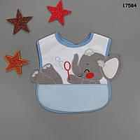 """Слюнявчик """"Слонёнок"""" для малыша"""
