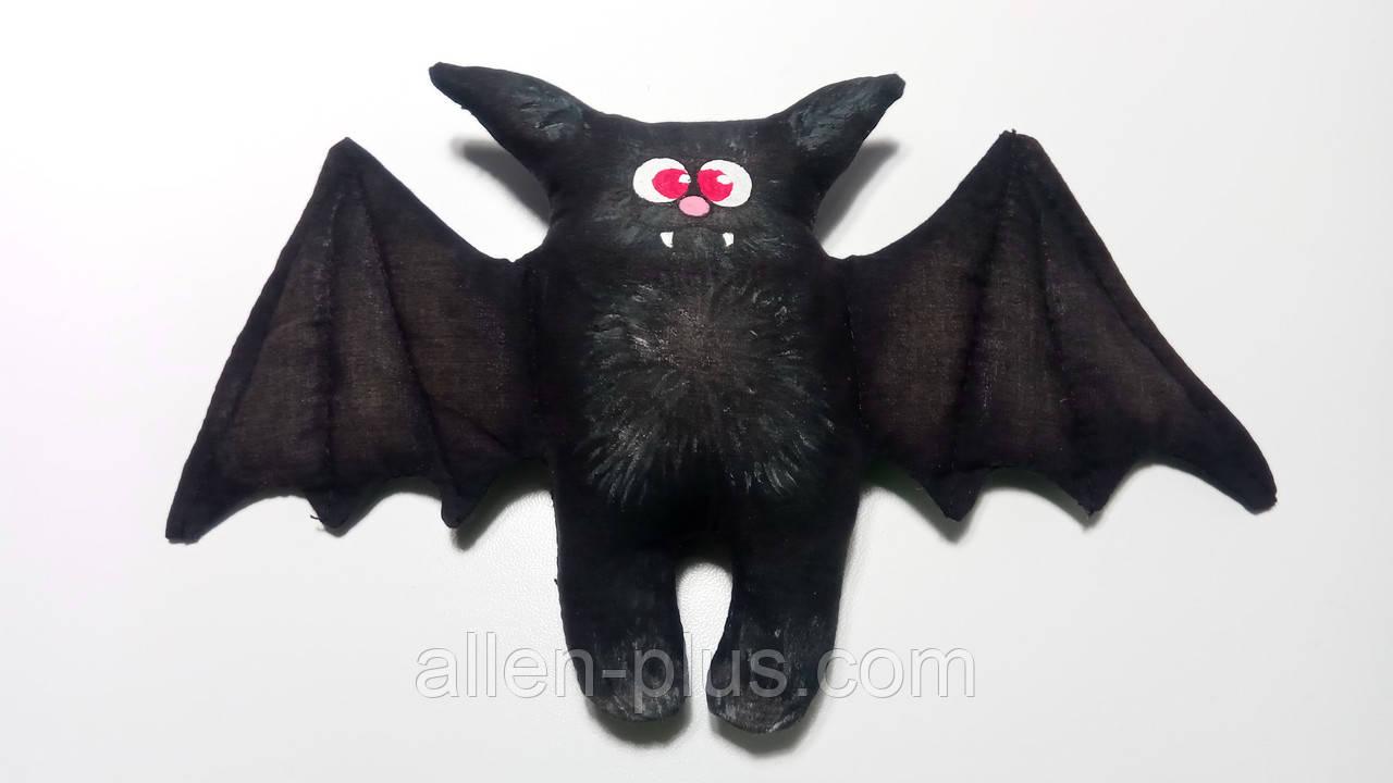 Игрушка ручной работы Летучая Мышь Черная