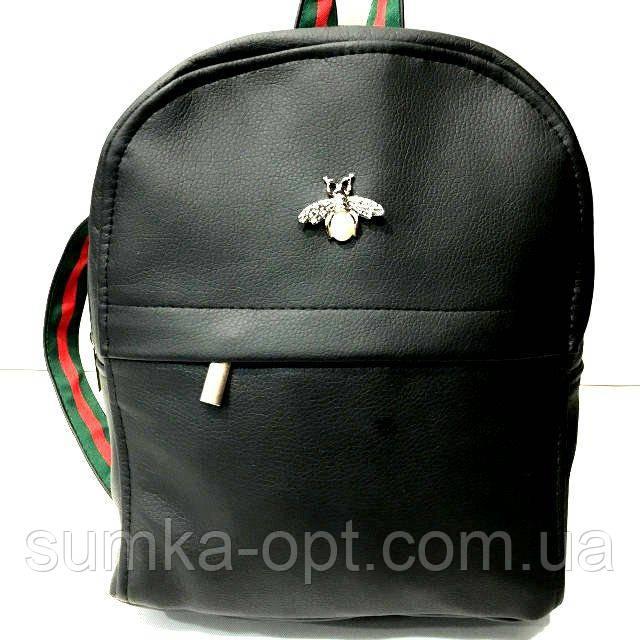 Жіночі рюкзаки з метеликом (чорний)22*27см