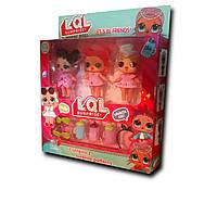 Набор Лол / 3 куклы LOL и аксессуары