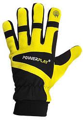 Зимние спортивные перчатки PowerPlay 6906, желтые