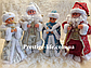 Новогодние Пара Дед Мороз 30см и Снегурочка 30см (танцующие и поющие), фото 2