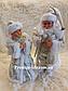 Новогодние Пара Дед Мороз 30см и Снегурочка 30см (танцующие и поющие), фото 7